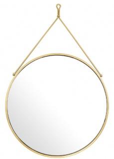 Casa Padrino Luxus Edelstahl Wandspiegel Gold Ø 65 x 3 x H. 97 cm - Garderoben Spiegel - Wohnzimmer Spiegel - Schlafzimmer Spiegel - Luxus Qualität