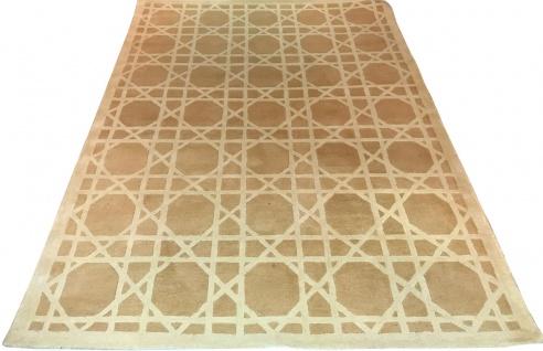 Casa Padrino Luxus Teppich aus Neuseeland Wolle Beige / Creme 170 x 240 cm - Handgetufteter Wohnzimmerteppich