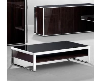 Casa Padrino Art Deco Luxus Couchtisch Ebenholz 140 x 80 x H. 35 cm - Wohnzimmer Salon Tisch - Luxus Möbel - Vorschau 4