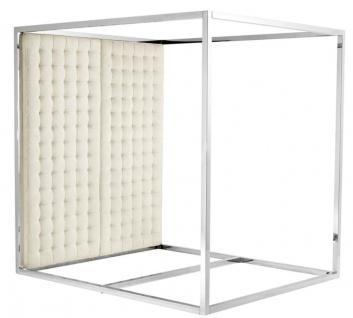Casa Padrino Luxus Bettgestell mit Kopfteil naturfarbig 190 x 220 x H. 220 cm - Designermöbel