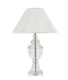 Casa Padrino Luxus Tischleuchte Nickel - Luxus Kristallglas Leuchte