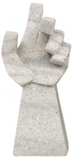 Casa Padrino Designer Sandstein Skulptur Hand Grau 18 x 13 x H. 41 cm - Deko Accessoires - Gartendeko