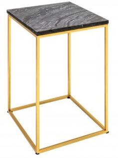 Casa Padrino Designer Beistelltisch mit Marmorplatte Schwarz / Gold 30 x 30x H.45 - Wohnzimmermöbel - Vorschau 1