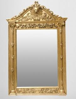 Gigantischer Casa Padrino Barock Spiegel Löwe Gold H 270 cm B 165 cm - Edel & Prunkvoll