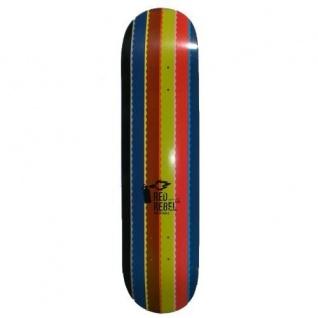 Red Rebel Skateboard Deck Rainbow 7.625 inch