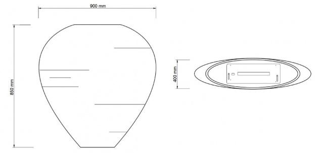 Casa Padrino Luxus Ethanol Kamin mit einem keramischen Bioethanolbrenner Naturfarben / Weiß 90 x 40 x H. 85 cm - Freistehender Naturstein Kamin im Design einer Vase - Vorschau 4