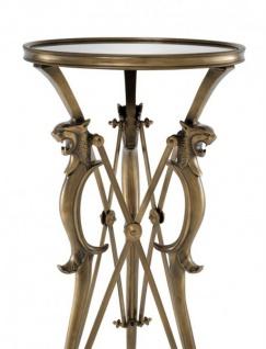 Casa Padrino Luxus Barock Beistelltisch Vintage Messing Finish 41 x H 81 cm - Tisch Möbel - Vorschau 2