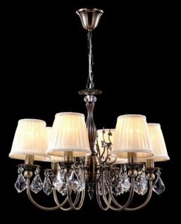 Casa Padrino Barock Decken Kronleuchter Kristall Bronze 57 x H 47 cm Antik Stil - Möbel Lüster Leuchter Hängeleuchte Hängelampe
