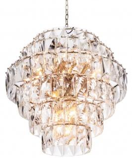 Casa Padrino Luxus Kristallglas Kronleuchter Ø 80 x H. 80 cm - Edel & Prunkvoll
