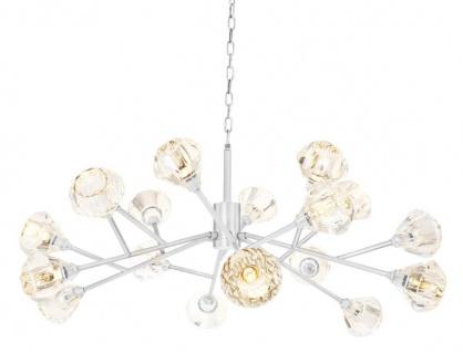 Casa Padrino Luxus Kronleuchter Silber Ø 124 x H. 56 cm - Luxus Kollektion