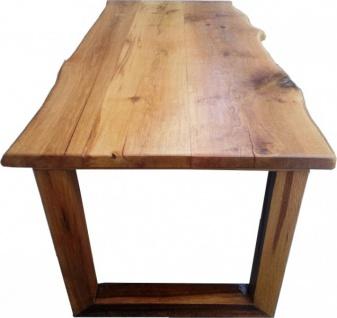 Casa Padrino Vintage Esstisch Eiche Rustikal Massiv 200 x 100 cm Mod TR3 - Landhaus Stil Tisch massives Eichenholz - Vorschau 3