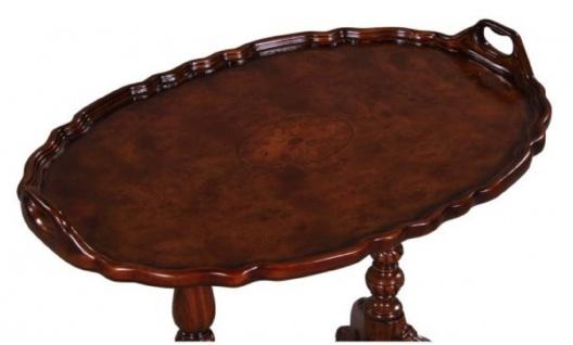 Casa Padrino Luxus Barock Teetisch / Beistelltisch mit 2 Tragegriffen Braun 66, 5 x 44, 5 x H. 55, 2 cm - Barockmöbel - Vorschau 3