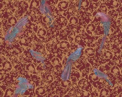 Versace Designer Barock Vliestapete IV 37053-4 - Bordeaux / Gold / Blau / Violett - Design Tapete - Hochwertige Qualität
