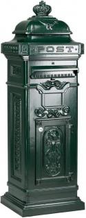 Casa Padrino Jugendstil Standbriefkasten 38 x 33 x H. 105 cm - Verschiedene Farben - Nostalgischer Säulenbriefkasten
