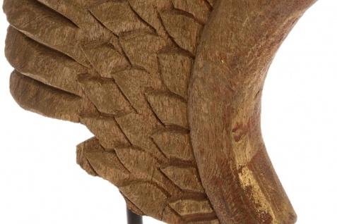 Casa Padrino Luxus Deko Holz Flügel mit Sockel Naturfarben / Schwarz 24 x 13 x H. 66 cm - Deko Accessoires - Vorschau 3