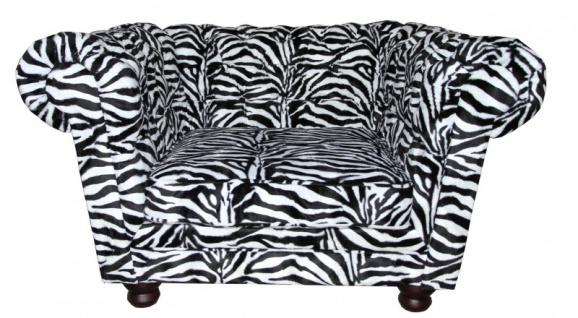 Casa Padrino Limited Edition Designer Chesterfield Sessel Zebra Club Möbel