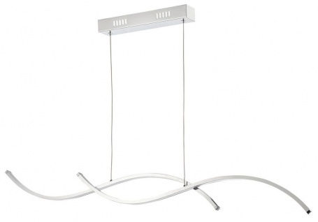 Casa Padrino Wohnzimmer LED-Hängeleuchte Silber 100 x H. 9, 7 cm - Designermöbel
