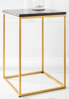 Casa Padrino Designer Beistelltisch mit Marmorplatte Schwarz / Gold 30 x 30x H.45 - Wohnzimmermöbel - Vorschau 2