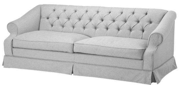 Casa Padrino Designer Sofa Hellgrau 210 x 93 x H. 79 cm - Wohnzimmermöbel