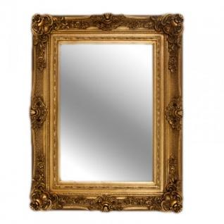 Casa Padrino Barock Wandspiegel Gold Antik-Look Höhe 121 cm, Breite 90 cm - Edel & Prunkvoll