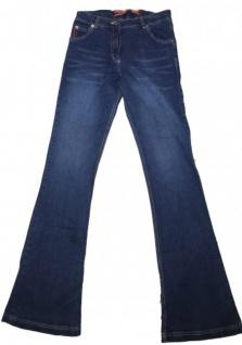 Damen Jeans 34 Hose Caprihose Blau Waschungen Used Look Stretch kurz Gr. 38 46