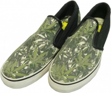 Osiris Skateboard Schuhe / Slip On Scoop / Natural Green Leaf