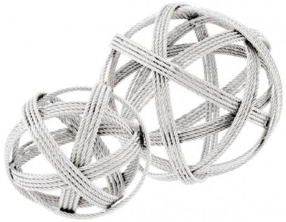 Casa Padrino Designer Edelstahl Kugeln Silber - Luxus Schreibtisch Deko