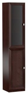 Casa Padrino Luxus Wohnzimmerschrank mit 2 Türen Dunkelbraun / Silber 45, 4 x 44, 2 x H. 225, 6 cm - Luxus Kollektion