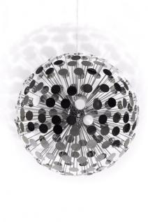 Designer Pendelleuchte aus verchromtem Stahl, wunderschöne Hängelampe, Silber, Leuchte Lampe