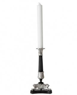 Casa Padrino Luxus Kerzenständer Nickel Finish Paris - schwere Ausführung - Kerzenhalter Kerzenleuchter