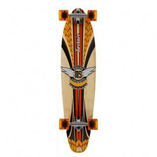 Mindless Komplettboard Longboard Corsair II Orange - Kicktail Profi Longboard 9.25 x 38.25 inch