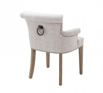 Casa Padrino Luxus Stuhl mit Armlehne Weiß - Luxus Kollektion - Vorschau 2