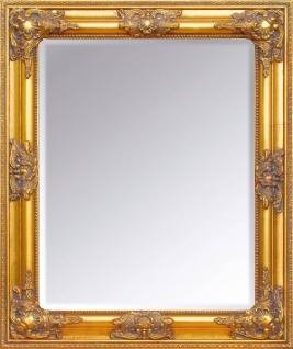 Casa Padrino Barock Wandspiegel Gold Höhe 62 cm, Breite 52 cm - Edel & Prunkvoll - Vintagelook - Handgefertigt