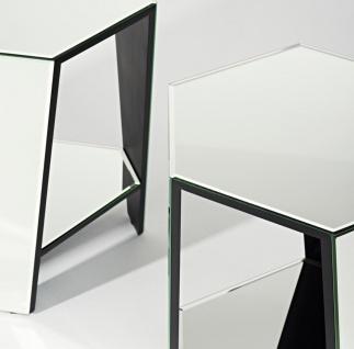 Casa Padrino Luxus Spiegelglas Beistelltisch 45 x 40 x H. 56 cm - Designermöbel - Vorschau 3