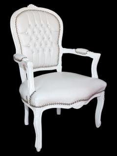 Mit Bling Barock Padrino Weiß Salon Stuhl Antik Casa Stil Lederoptik Glitzersteinen Möbel lT3F1KJc