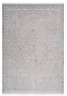 Casa Padrino Luxus Teppich Silber - Verschiedene Größen - Vintage Wohnzimmer Teppich - Luxus Qualität