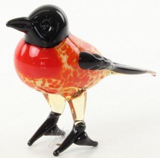 Casa Padrino Glasfigur Chickadee Vogel - bunte Dekofigur aus Glas - Figur Skulptur Deko Dekoration Geschenk