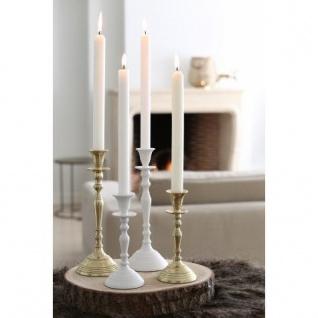 Casa Padrino Kerzenständer Weiss Höhe 27 cm, Durchmesser 10 cm - Kerzenhalter - Vorschau 2