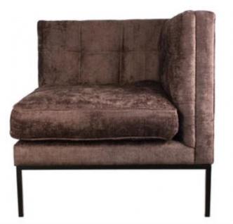 Casa Padrino Lounge Ecksessel Braun / Schwarz 83 x 83 x H. 83 cm - Luxus Möbel