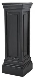 Casa Padrino Designer Mahagoni Säule Schwarz 33 x 33 x H. 120 cm - Luxus Beistelltisch