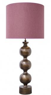 Casa Padrino Luxus Tischleuchte Antik Bronze / Altrosa 60 x H. 136 cm - Luxus Qualität