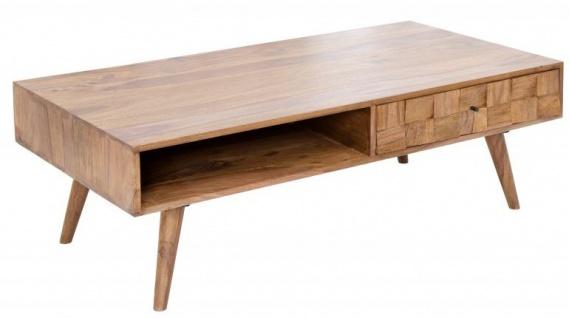 Casa Padrino Designer Massivholz Couchtisch Natur B.117 x H.40 x T. 60 Salon Wohnzimmer Tisch