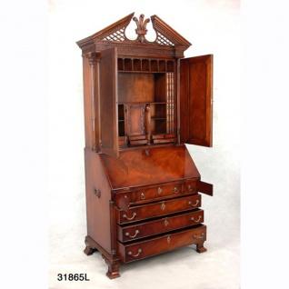 Eindrucksvoller Casa Padrino Sekretär Schrank - Antik Stil - Mahagony Paternoster