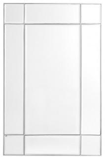 Casa Padrino Luxus Wohnzimmer Spiegel / Wandspiegel Silber 90 x 3 x H. 140 cm - Luxus Möbel