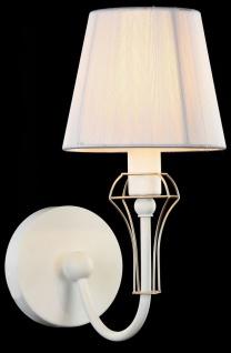 Casa Padrino Jugendstil Wandleuchte Weiß / Gold 15 x 24 x H. 30 cm - Jugendstil Wandlampe - Vorschau 4