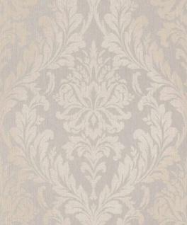 Casa Padrino Barock Textiltapete Grau / Beige 10, 05 x 0, 53 m - Wohnzimmer Tapete - Deko Accessoires im Barockstil
