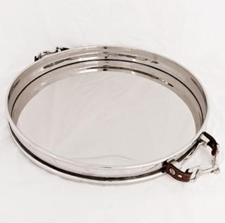 Casa Padrino Luxus Tablett Durchmesser 40 x H 6, 5 cm - Luxus Qualität