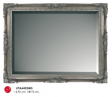 Casa Padrino Barock Wandspiegel Silber H 92 cm B 72 cm - Edel & Prunkvoll - Spiegel Silberfarben