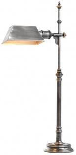 Casa Padrino Luxus Tischleuchte Antik Silber 16 x 20, 5 x H. 82 cm - Antikstil Tischlampe