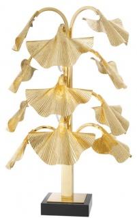 Casa Padrino Luxus Tischleuchte Messingfarben / Schwarz 55 x 38 x H. 88 cm - Designer Lampe mit Granitsockel - Vorschau 2